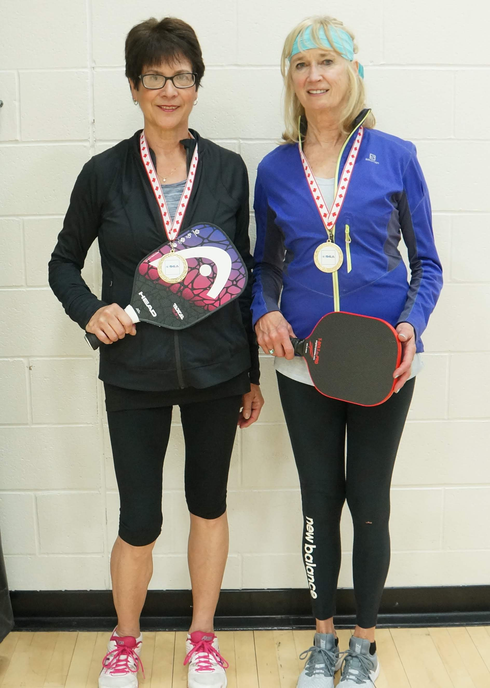 Pickleball Gold Roelie V and Toni R