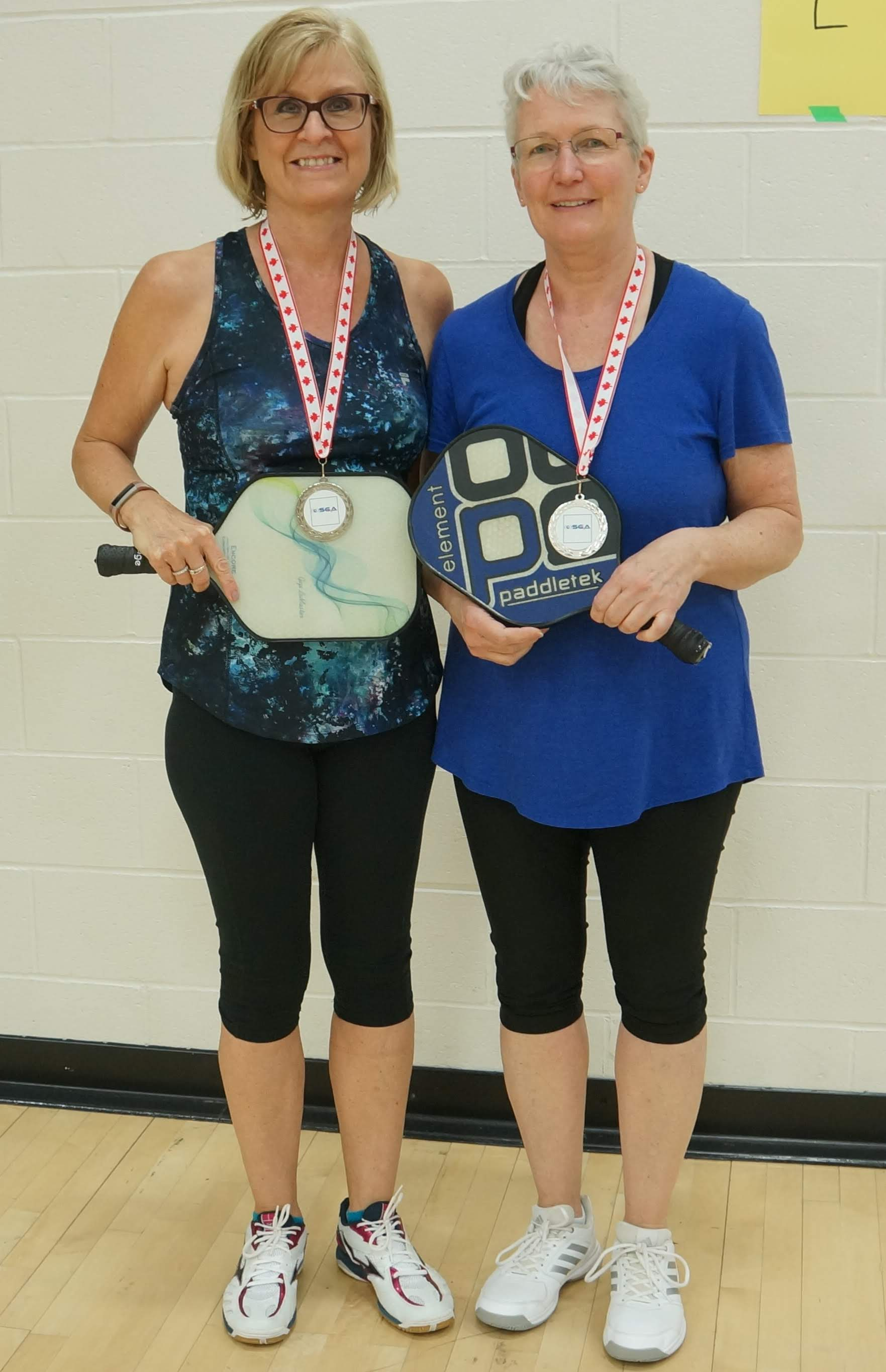 Pickleball Silver Arlene D and Joanne J